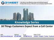 10 Things Customers Expect from a Call Center
