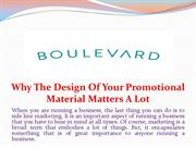 Why The Design Of Your Promotional Material Matters