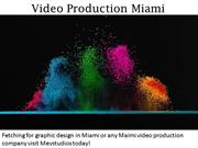Video Production Miami - mevstudios.com