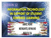 ICT STUDENT CENTERED LEARNING