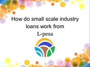 Small Scale Industry Loans Tanzania