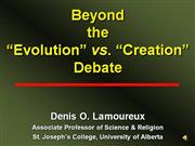 Beyond the Evolution vs. Creation Debate