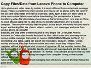 Copy Files Data from Lenovo Phone to Computer