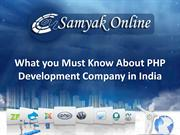 What You must Know About Php Development company in India