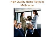Name Plate Melbourne