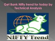 Get Bank Nifty trend for today by Technical Analysis