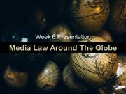 Media Law around the Globe Final