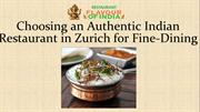 Authentic Indian Restaurant in Zürich - Flavour of India