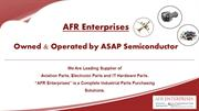 AFR Enterprises - Electronics, Hardware and Aviation Components