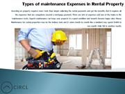 Types of maintenance Expenses in Rental Property