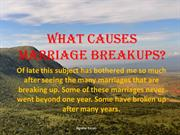 What Causes Mrriage Breakups