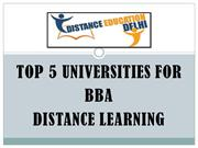 Top 5 Universities for BBA Distance Learning