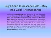Buy Cheap Runescape Gold – Buy RS3 Gold