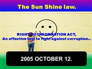 RIGHT TO INFORMATION ACT2005