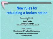 New rules for rebuilding a broken nation