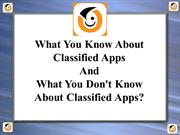 What You Know About Classified Apps and don't know about Classified ap
