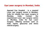 Eye Laser surgery in Mumbai, India