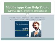 Mobile Apps Can Help You to Grow Real Estate Business
