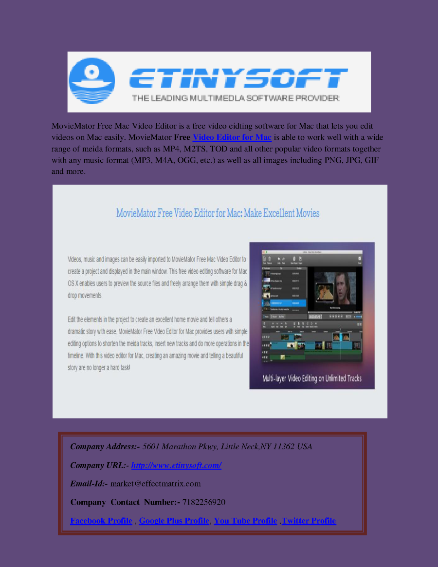 Free Download Video Editor For Mac Authorstream