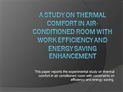 A Study on Thermal Comfort in Air Conditioned Room