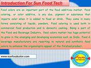 Food Colours Manufacturers