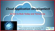 Cloud Application Development – All Set to Rule Today and Tomorrow