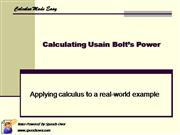 Calculating Usain Bolt's Power
