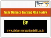 Amity Distance learning MBA Review