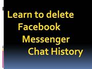 Learn to delete Facebook Messenger Chat History