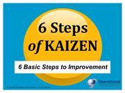 Six Steps of Kaizen by Operational Excellence Consulting