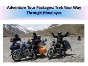 Adventure Tour Packages: Trek Your Way Through Himalayas