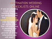 Best Destination Wedding Tips