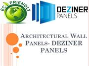 Architectural Wall Panels- DEZINER PANELS