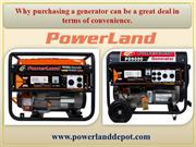 Why purchasing a generator can be a great deal in terms of convenience