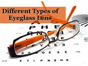 Different Types of Eyeglass Lens
