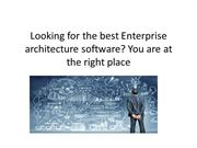 Looking for the best Enterprise architecture software