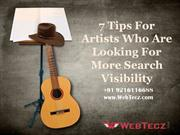7 Tips For Artists Who Are Looking For More Search Visibility