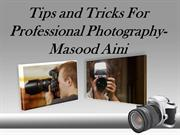 Masood Aini | Tips and Tricks For Professional Photography
