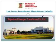 low losses transformer manufacturer in India
