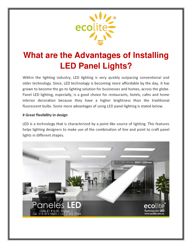 What are the Advantages of Installing LED Panel Lights ...