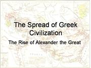 The Spread of Greek Civilization