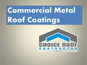 Commercial Metal Roof Coatings