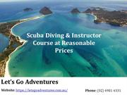 Scuba Diving & Instructor Course at Reasonable Prices