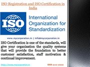 ISO Registration and ISO Certification in Delhi India