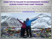Some Tips to Follow Accommodate Yourself During Everest Base Camp Trek