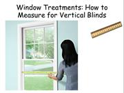 Window Treatments- How to Measure for Vertical Blinds