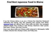 Find Best Japanese Food In Blaine