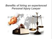 Hire a Experienced Personal Injury Lawyer in New Jersey