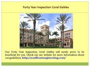 40 Year Inspection Fort Lauderdale