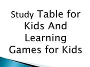 Study Table for Kids And Learning Games for Kids
